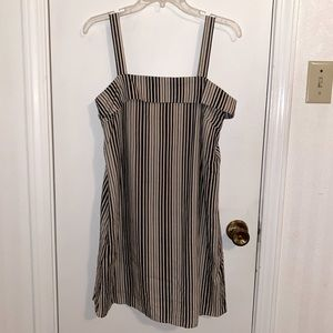 KLD Black and Tan Cotton/linen Dress Size Small